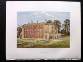 Morris Seats 1860's Antique Print. Clifton Hall